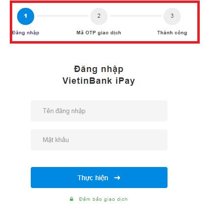 đăng nhập VietinBank