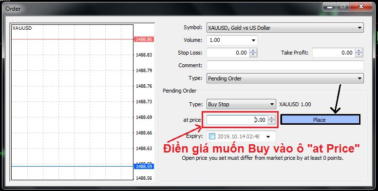 Buy-stop-order