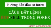 Cách đặt lệnh Forex: Buy, Sell, Buy Limit, Sell Limit, Buy Stop, Sell Stop